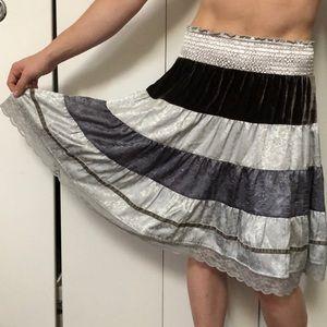Free people tiered boho skirt